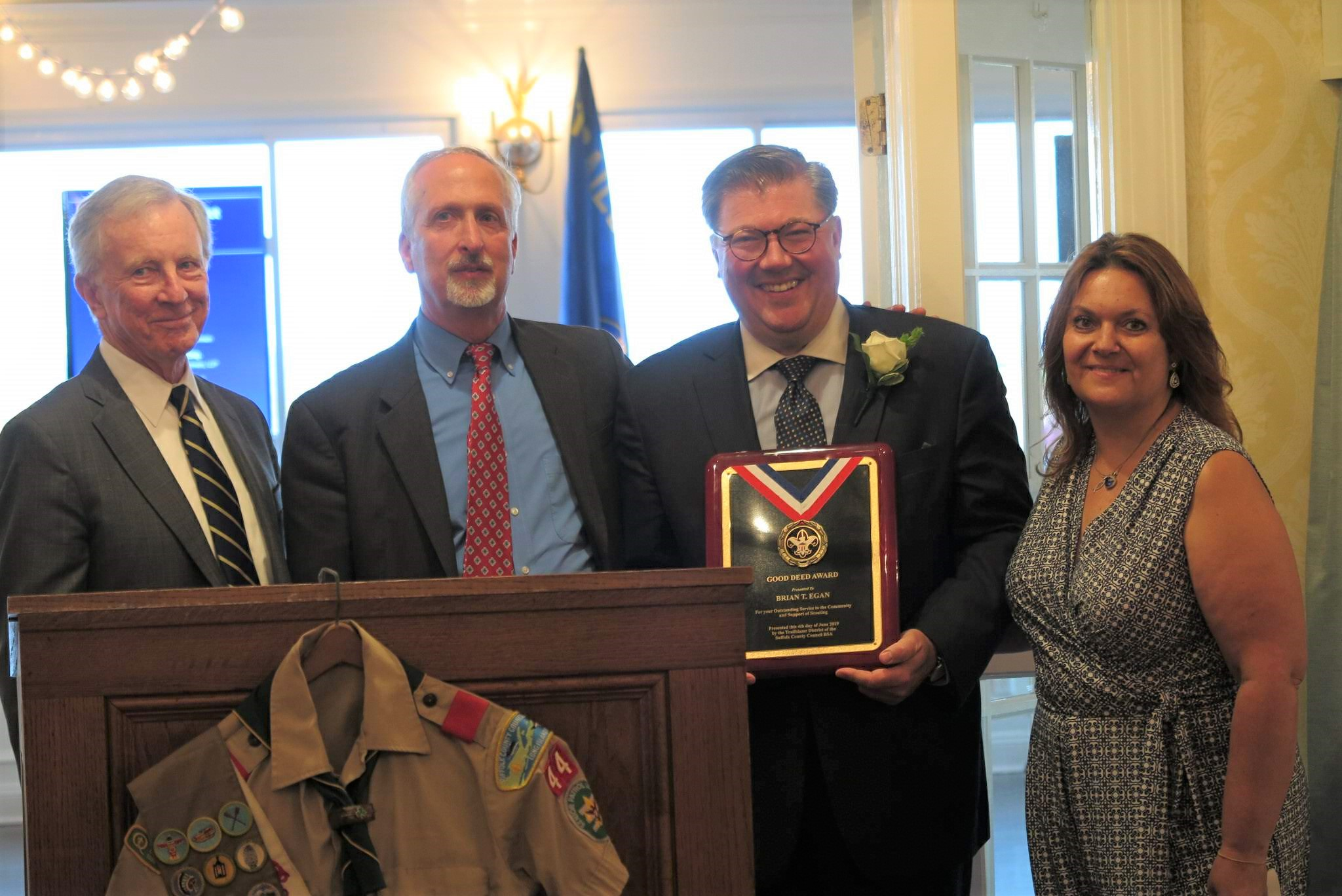 Egan recieves 36th Annual Good Deed Award from Boy Scouts